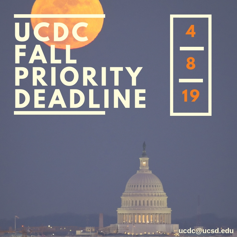 UCDC Fall 2019 Application Deadline