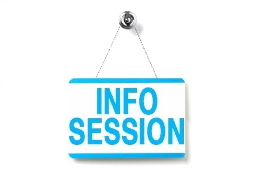 New Info Sessions Announced