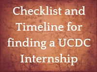 Checklist and Timeline for Finding an Internship