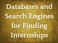 Databases and Search Engines for Finding Internships