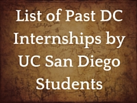 List of Past Dc Internships by UCSD Students